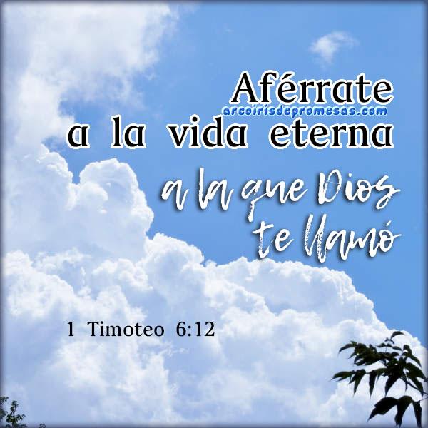 la vida eterna es la meta del creyente reflexiones cristianas con imágenes arcoiris de promesas
