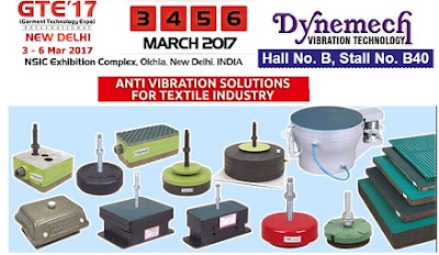 Dynemech Anti-Vibration Mountings and Vibration Damping Solutions at Garment Technology Expo International Delhi