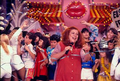 Beth Carvalho, durante participação no Xou da Xuxa — Foto: Acervo TV Globo