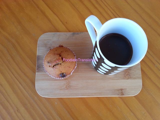 Muffin ai mirtilli rossi e arancio