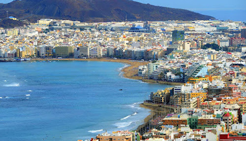 Imagem aérea de Las Palmas de Gran Canaria