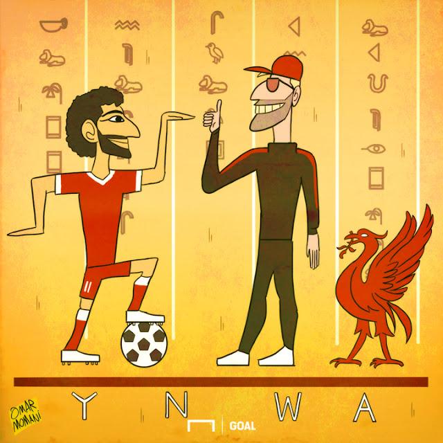 Mohamed Salah cartoon