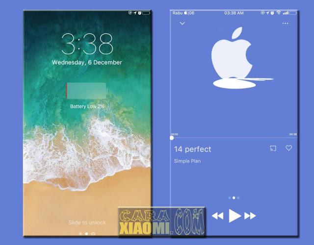 Download Tema Xiaomi MIUI iOS 6 Mod Center Clock by AAT Terbaru