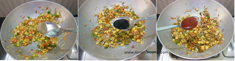 How to make Sweet Corn Fried Rice- Step 3
