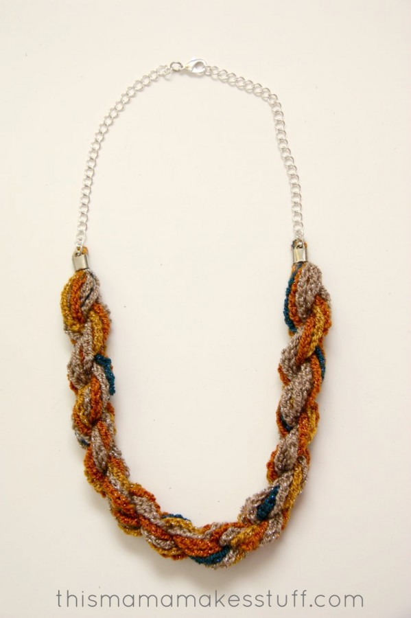 How To Make Pretty Yarn Crochet Necklaces The Beading Gems Journal