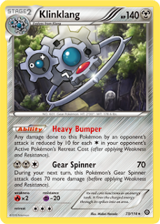 Klinklang Steam Siege Pokemon Card