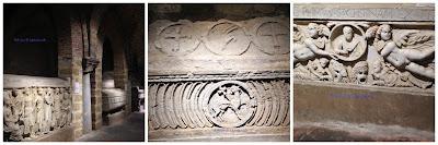 sarcofagi nella cripta nel duomo di Palermo