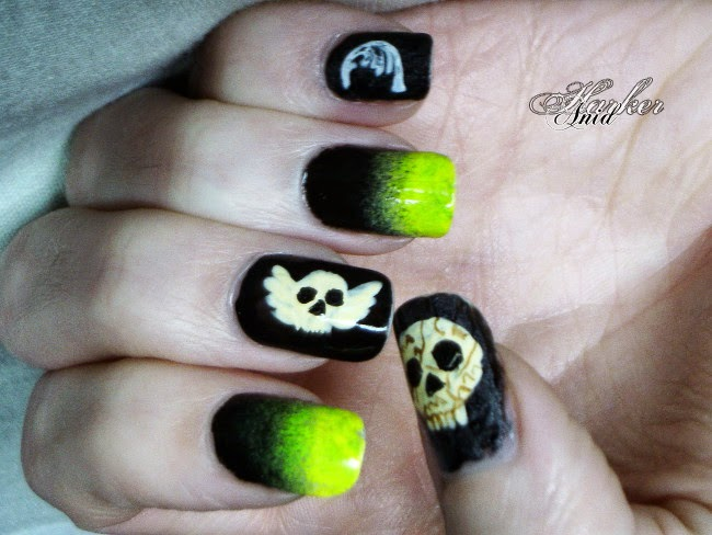 Soul eaters crushed nail art