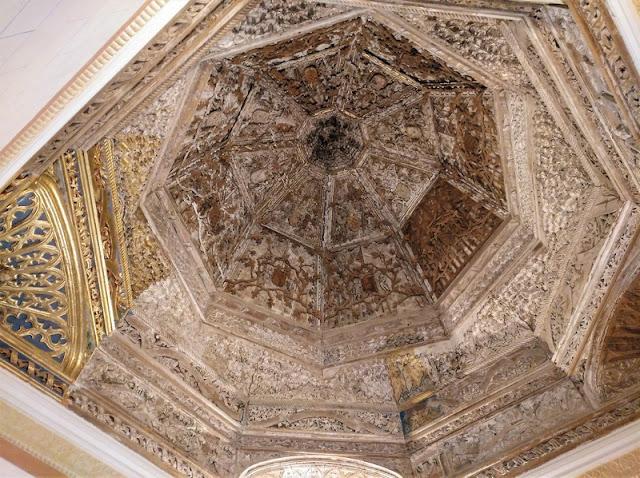 Castillo de Belmonte, techo de la capilla
