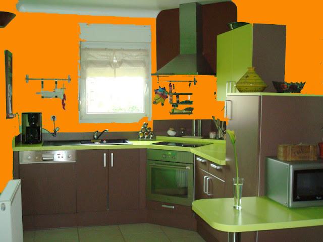 Cuisine Orange Et Vert | Idées décoration - Idées décoration