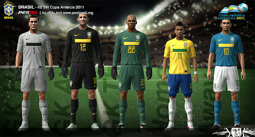 Brazil Copa America 2011 Kit Set by diNo