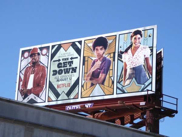 Get Down series launch billboard