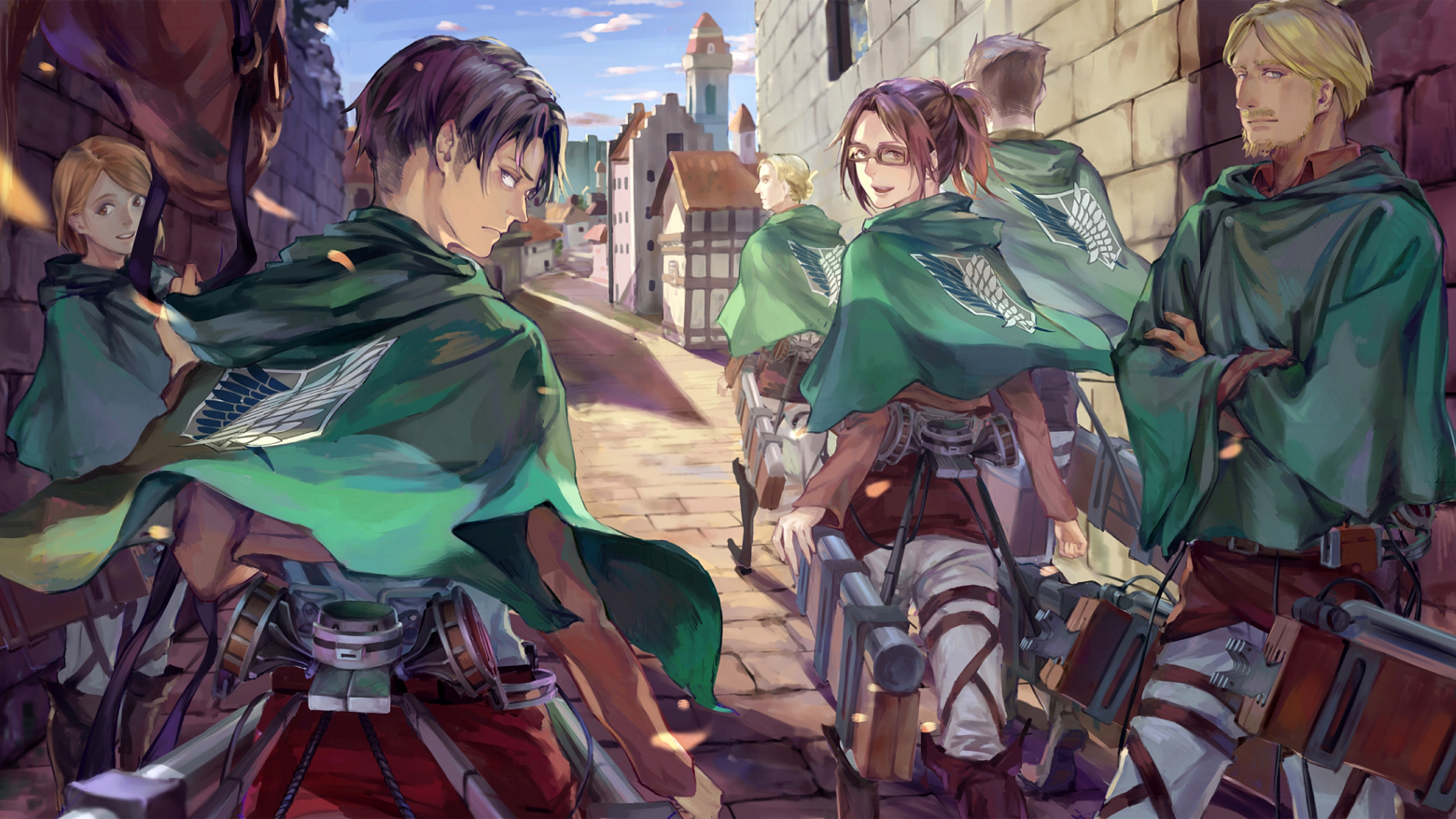 Levi Hange Zoe Survey Corps Attack On Titan 4k Wallpaper 20