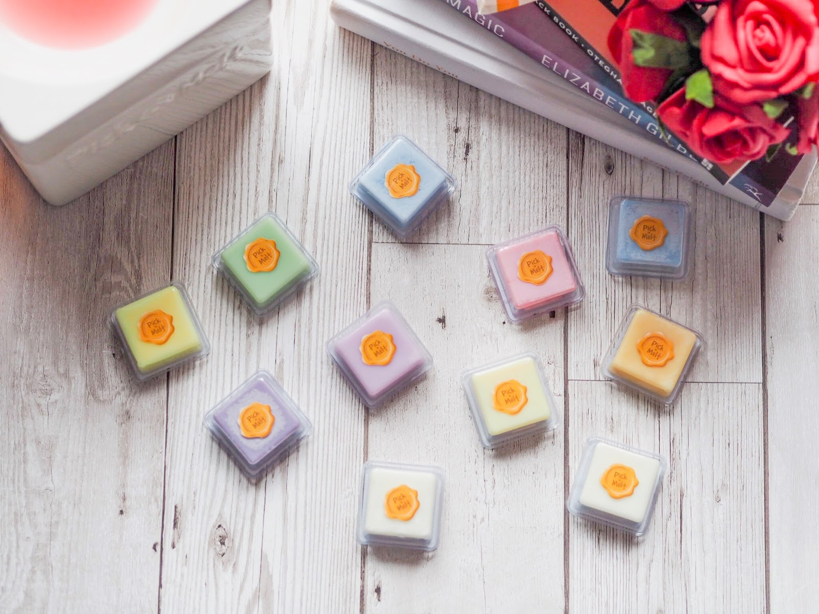 Pick'n'melt Spring awakening wax melts flat lay