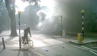 London bus burning, #2