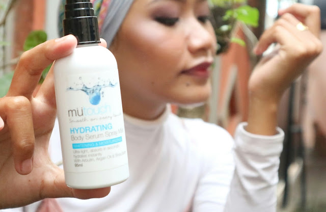 mutouch hydrating body serum spray mist