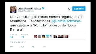 """Cae """"El Puntilla"""" sucesor de Daniel 'El Loco' Barrera en Colombia"""