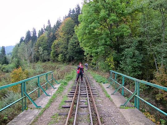 Most Bieszczadzkiej Kolejki Leśnej nad Solinką.