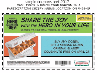 Krispy Kreme coupons april 2017