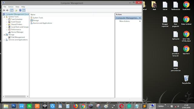 """Tampilan dari perintah """"compmgmt.msc"""" pada Windows"""