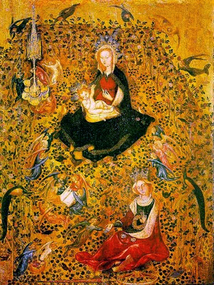 http://art-of-botanicals.tumblr.com/post/25233945087/the-virgin-and-child-in-the-hortus-conclusus-by