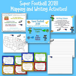 It's Super Bowl time! Come on over to Elementary Matters for a mapping and writing freebie!