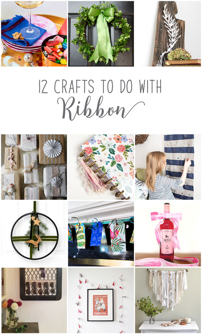 12 Beautiful Crafts To Do With Ribbons - diy ideas from Canadian decor and lifestyle bloggers