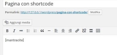 Come inserire uno ShortCode in una pagina WordPress