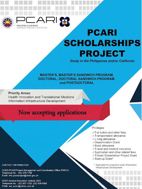 PCARI Project: PCARI Scholarships Call for Applications