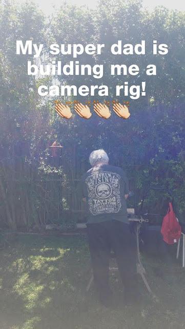 Dad building me a camera rig