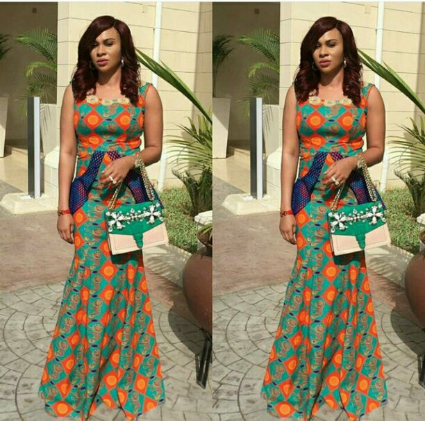 Ankara armless skirt and top