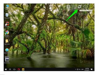 Change desktop wallpaper button