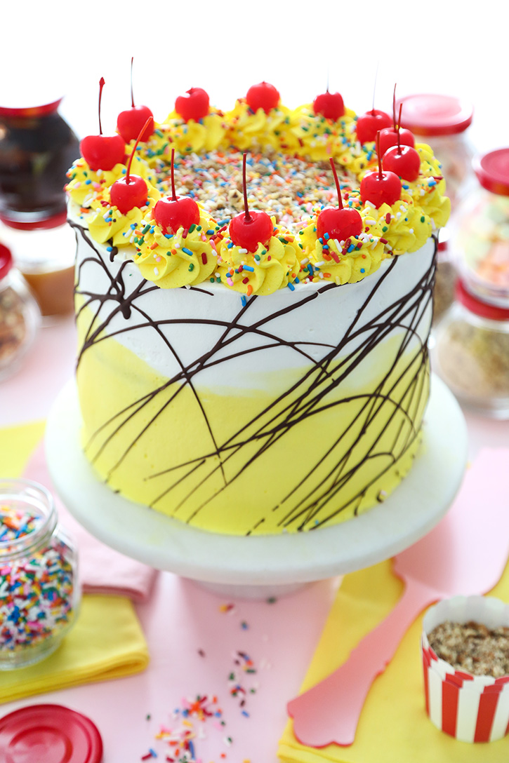 Banana Split Ice Cream Cake Sprinkle Bakes