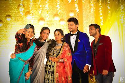 Diya and Karthik reception photo