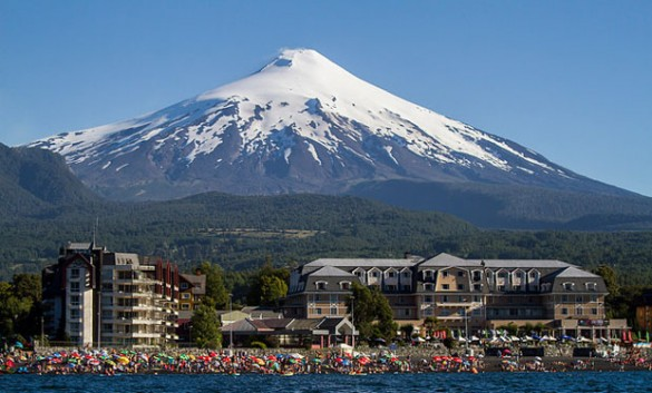 Pucon and Villarrica Volcano, Chile.
