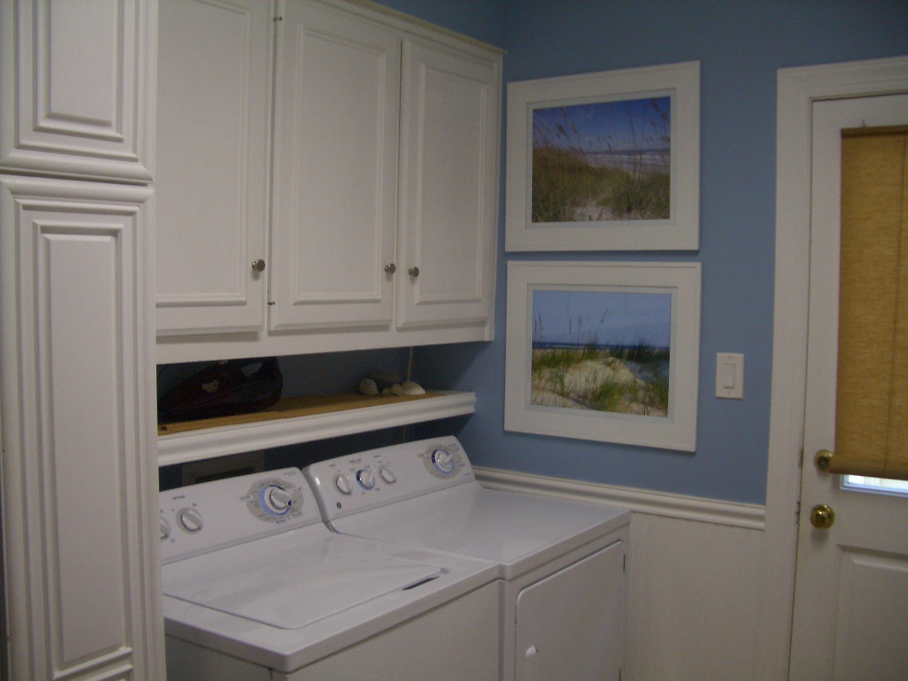 Casalupoli laundry room update over the washer dryer shelf - Laundry room shelving ideas ...