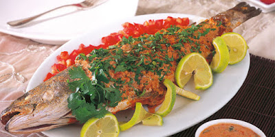 Samkeh Harrah / Spicy Baked Fish