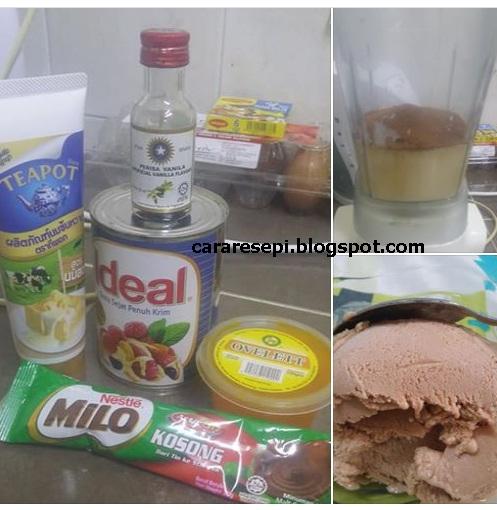 Resepi Aiskrim Milo Malaysia Gebu Cara Buat Homemade Lembut Sedap Viral