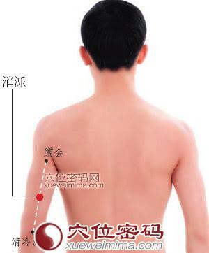 消濼穴位 | 消濼穴痛位置 - 穴道按摩經絡圖解 | Source:xueweitu.iiyun.com