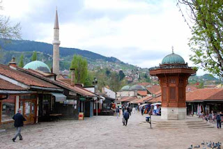 Sebilj Fountain Pigeon Square Sarajevo Bosnia