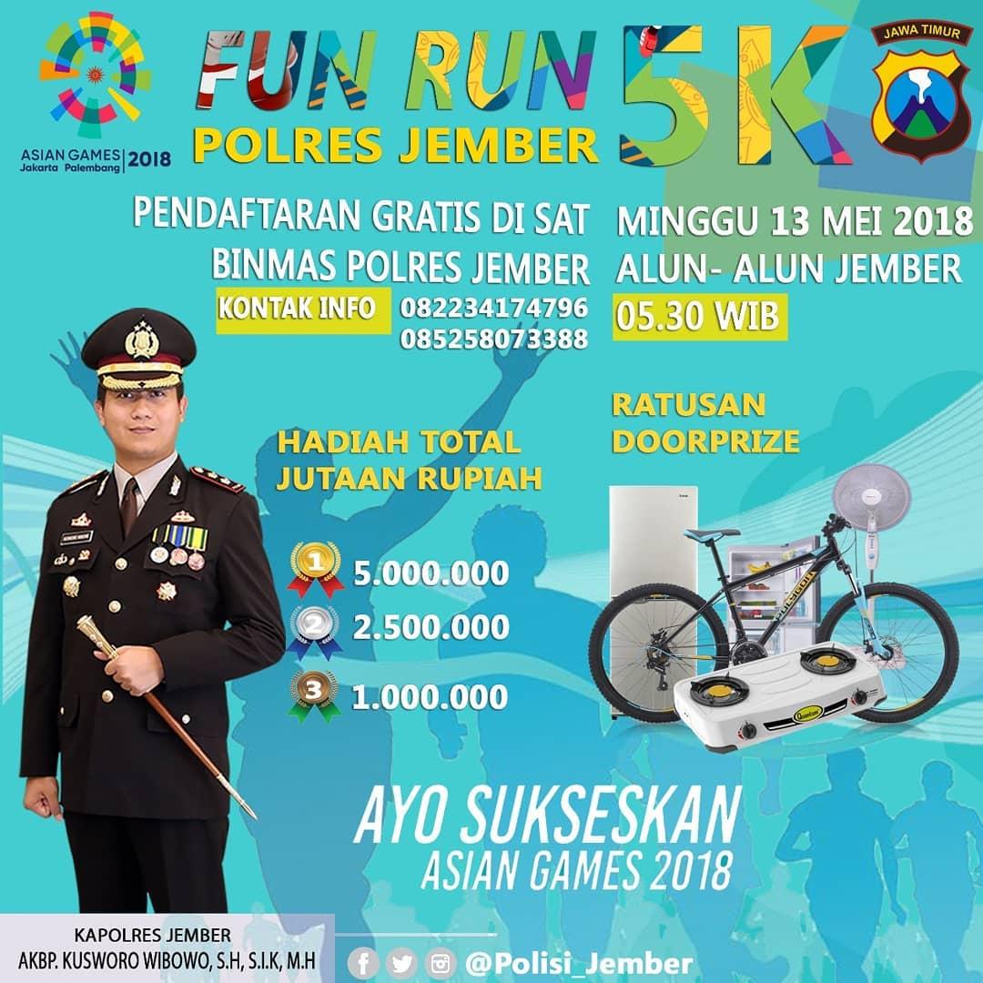 Polres Jember Fun Run • 2018