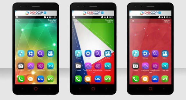 Begini Smartphone Digicoop, Ponsel 4G Karya Anak Negeri