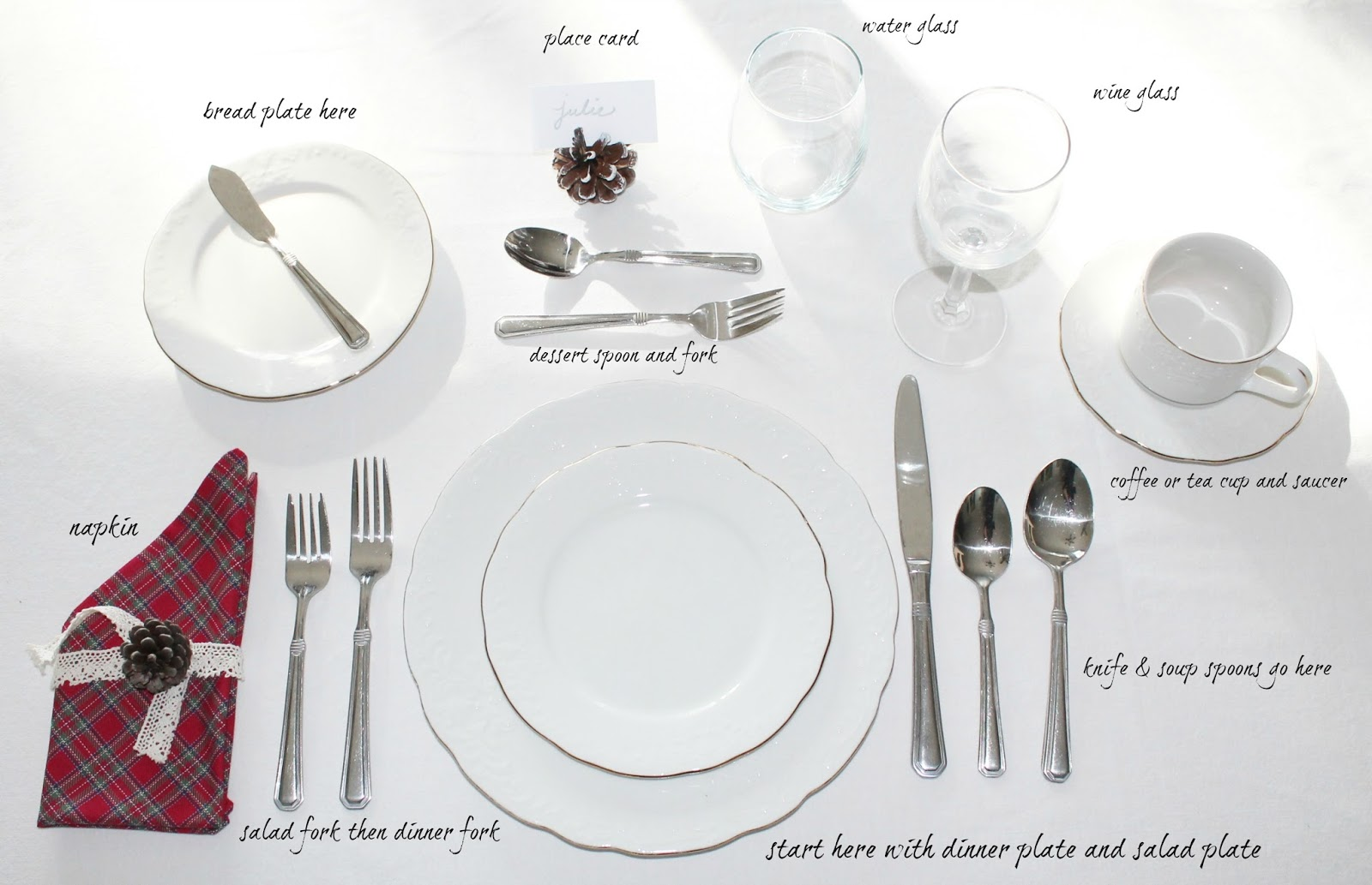 How To Set A Table Printable Love My Simple Home