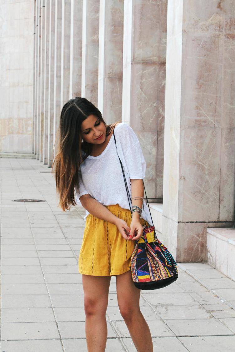 bolso mango shorts mostaza blog moda leon