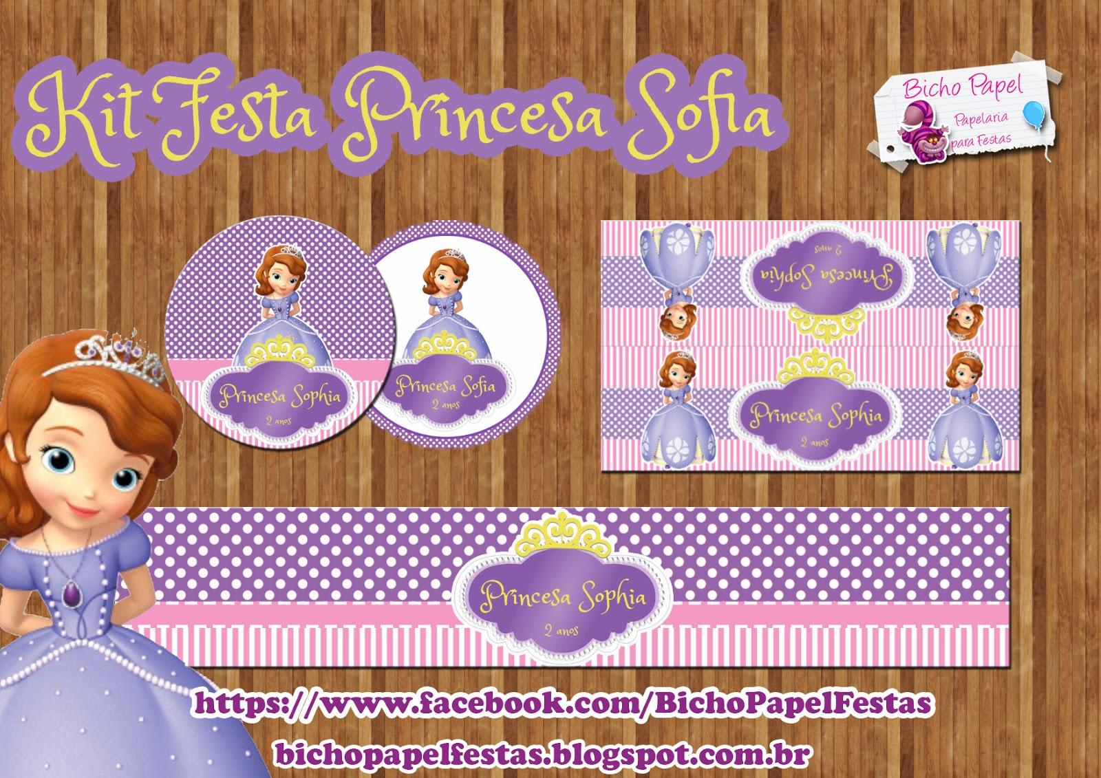 Kit Festa Princesa Sofia Para Imprimir