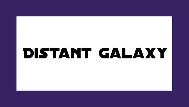 Font Distant Galaxy Star Wars Download