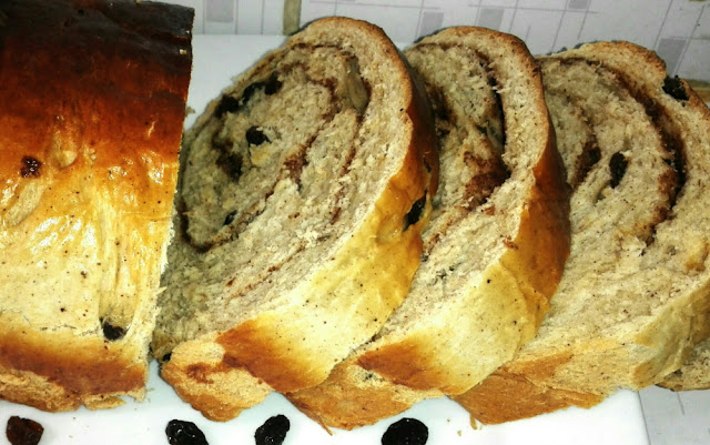 This easy recipe for Sweet Cinnamon Raisin Bread requires yeast and has fantastic flavor and texture. Simple to make & you'll love the wonderful scent as it bakes!