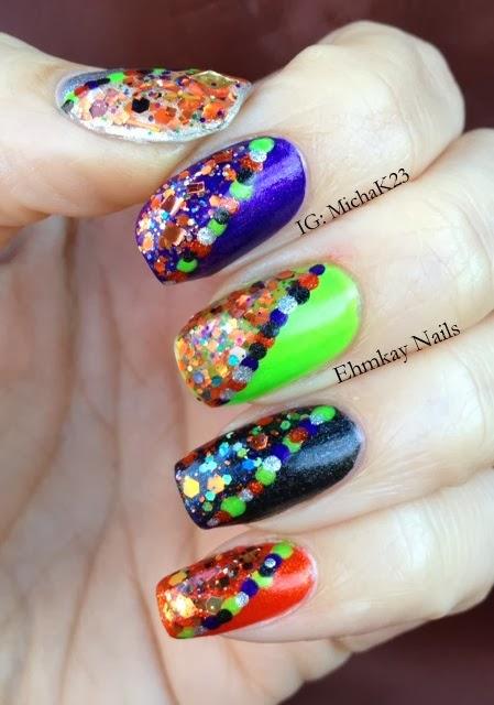 ehmkay nails: Halloween Explosion on My Nails!