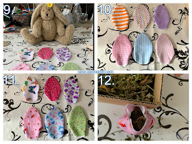 Crafting with Cats Easter Special ©BionicBasil® Catnip Easter Eggs Steps 9 -12