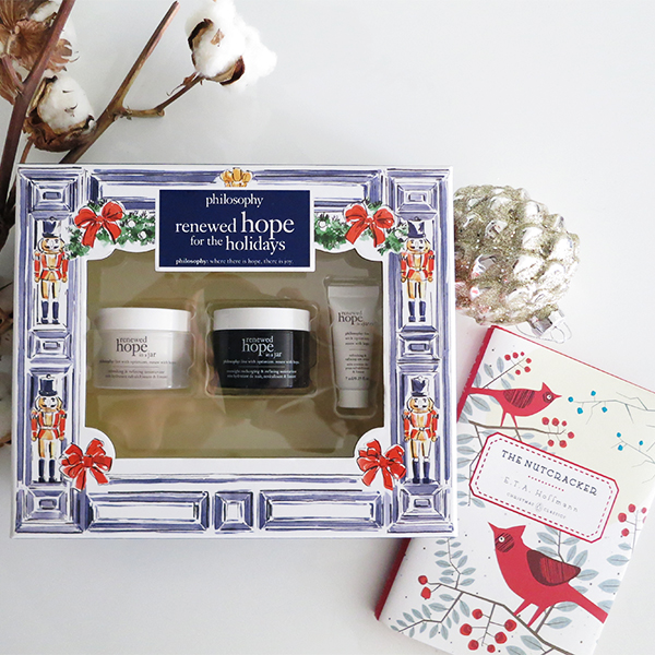 Philosophy Renewed Hope For The Holidays boxed holiday 2016 gift set featuring renewed hope in a jar daytime moisturizer, night cream, and eye cream